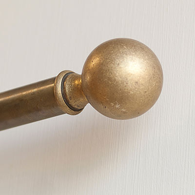 25mm Ball Finial in Antiqued Brass