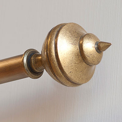 19mm Empire Finial in Antiqued Brass