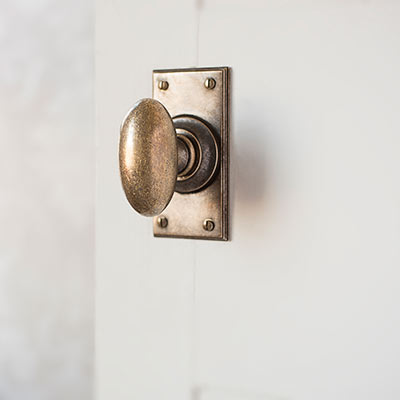 Downley Door Knob with Ripley Short Backplate