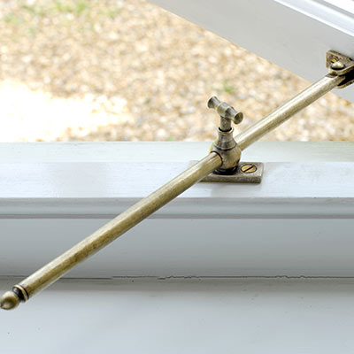 30cm Aldham Window Stay in Antiqued Brass