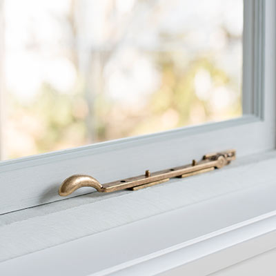 25cm Brass London Window Stay