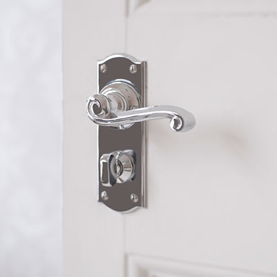 Regency Handle with Nowton Privacy Backplate
