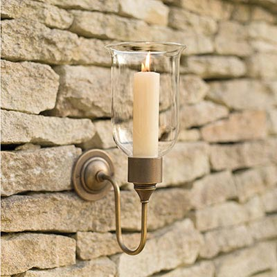 Hurricane Candle Sconce