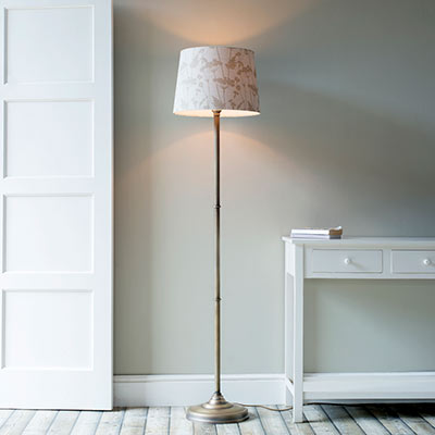 Burnham Standard Lamp in Antiqued Brass