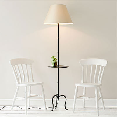 Shelley Floor Lamp with Table