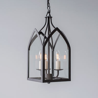 Lanterns pendant ceiling lights jim lawrence barnham lantern with three lights in polished aloadofball Choice Image