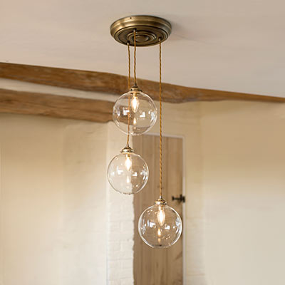 Multi pendant lights ceiling lighting jim lawrence holborn triple pendant rose aloadofball