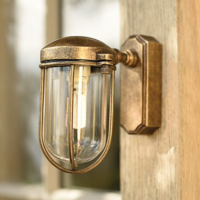 Clipper Light in Antiqued Brass
