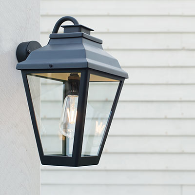 Hackney Outdoor Lantern (Wall Mounted) in Matt Black