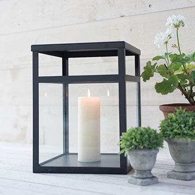 Kensington Garden Lantern in Matt Black
