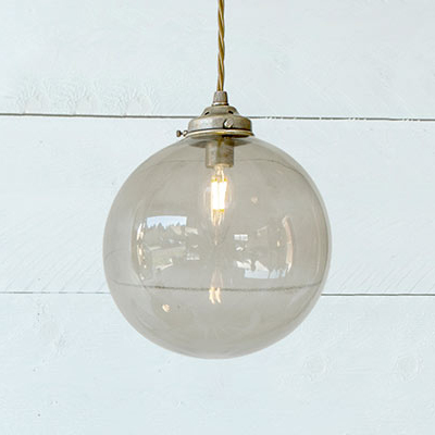 Holborn Charcoal Coloured Glass Pendant Light