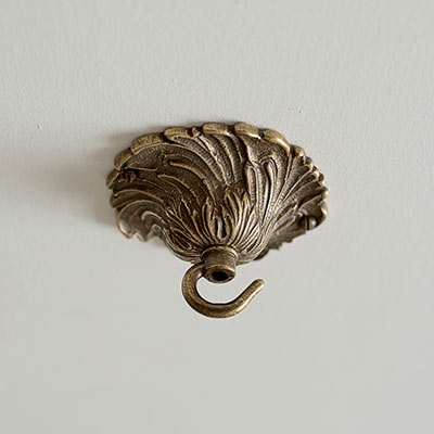 Rococo Brass Ceiling Hook