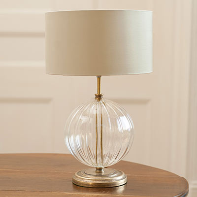 Harleston Table Lamp with Fluted Glass