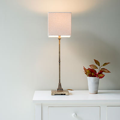 Layham Table Lamp in Antiqued Brass
