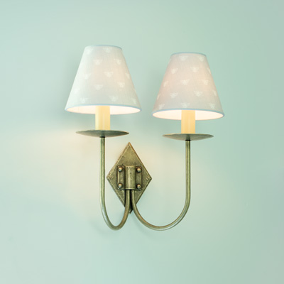 Double Diamond Wall Light