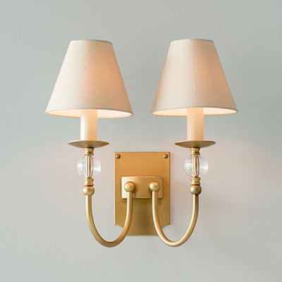 Double Fanshaw Wall Light