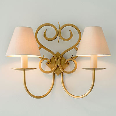 Double Jalousie Wall Light