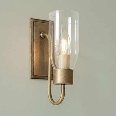 Single Morston Wall Light with Clear Glass