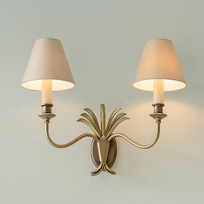 Double Plantation Wall Light