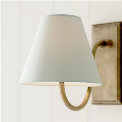 Bathroom Candle Shade in French Grey Silk