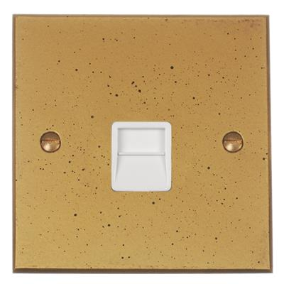 Master Telephone Socket with White Insert Bevelled