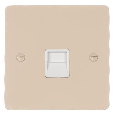 Master Telephone Socket with White Insert Hammered