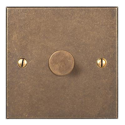 1 Gang Rotary Dimmer Bevelled Plate