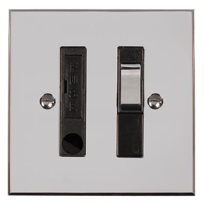 Fused Switch + Cable Outlet with Chrome Inserts & Nickel Bevelled Plate