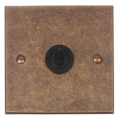 1 Gang Black Dolly Switch Bevelled Plate