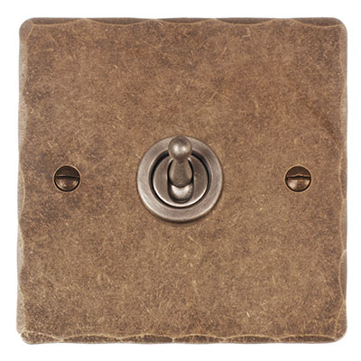 1 Gang Steel Dolly Switch Hammered Plate