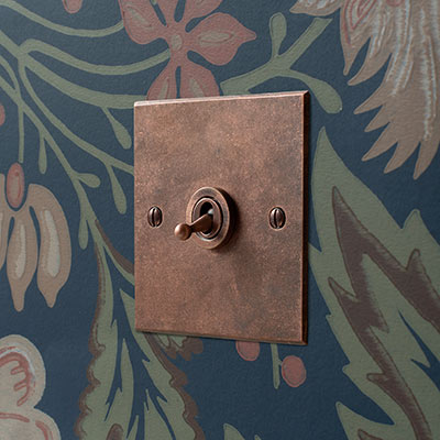 1 Gang Dolly Switch in Heritage Copper