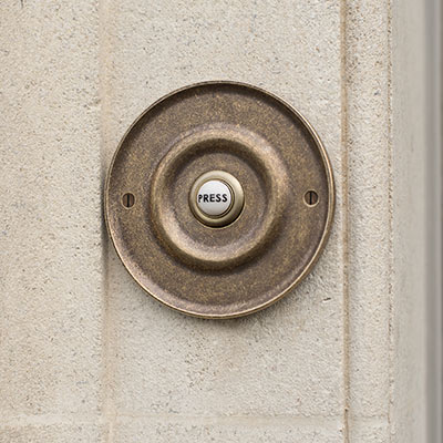 Door Bell Cover with Ceramic Bell Push
