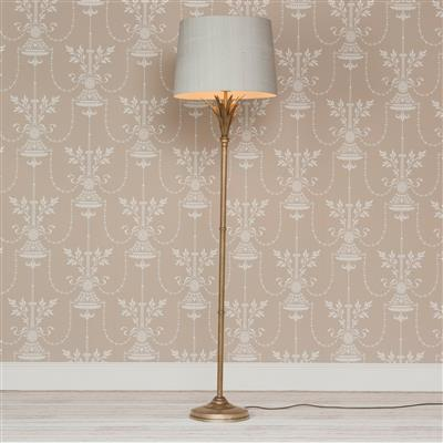 Regency Floor Lamp in Antiqued Brass