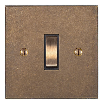 Double Pole Isolator No Neon Brass Switch Bevelled