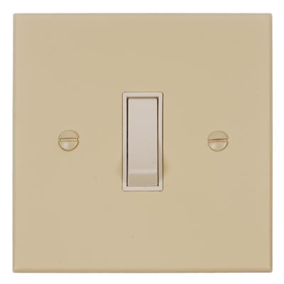 Double Pole Isolator No Neon White Switch Bevelled Plate