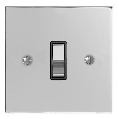 Double Pole Isolator No Neon Chrome Switch Bevelled