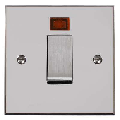 Steel 45amp Cooker Switch Bevelled Plate
