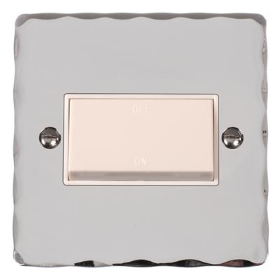 Triple Pole Isolator White Switch Hammered
