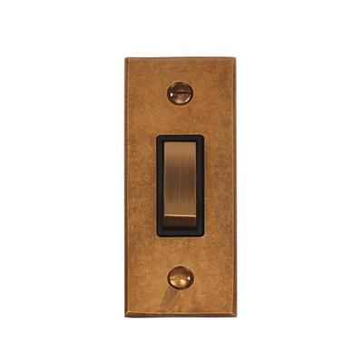 1 Gang Brass Modular Grid Bevelled Architrave Plate