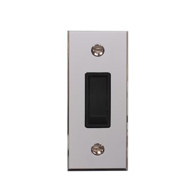 1 Gang Black Modular Grid Switch with Bevelled Architrave Plate