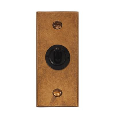1 Gang Black Dolly Architrave Switch Bevelled Plate