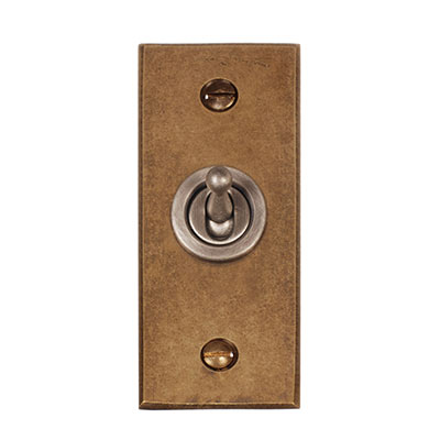 1 Gang Steel Dolly Architrave Switch Bevelled