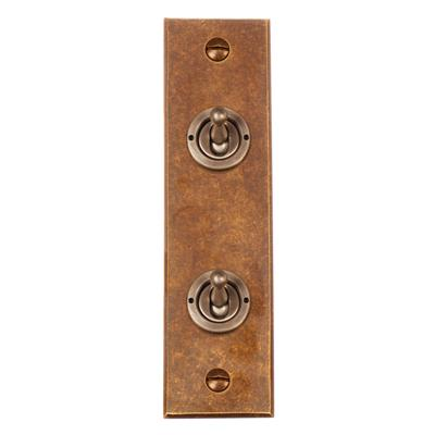 2 Gang Steel Dolly Switch Architrave Bevelled