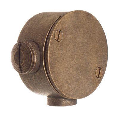 Conduit Junction Box in Antiqued Brass
