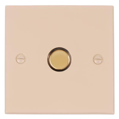 1 Gang Brass Touch Dimmer Bevelled Plate