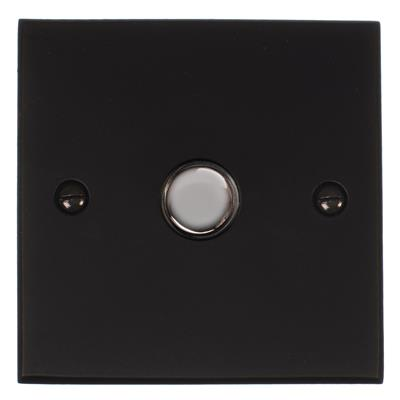 1 Gang Chrome Touch Dimmer with Matt Black Bevelled Plate