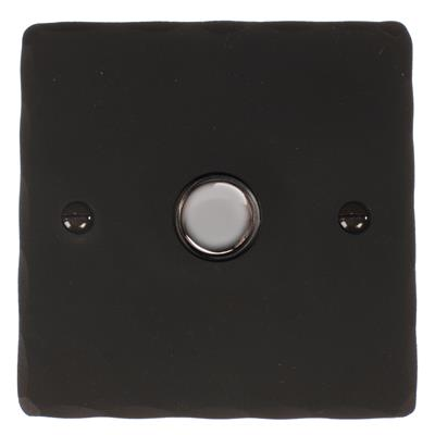 1 Gang Chrome Touch Dimmer Hammered Plate