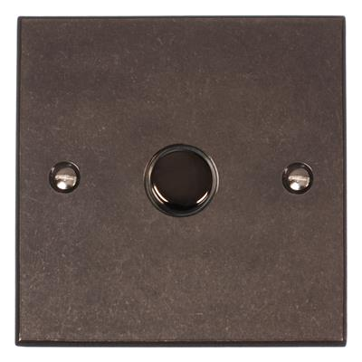1 Gang Black Slave Touch Dimmer with Polished Bevelled Plate
