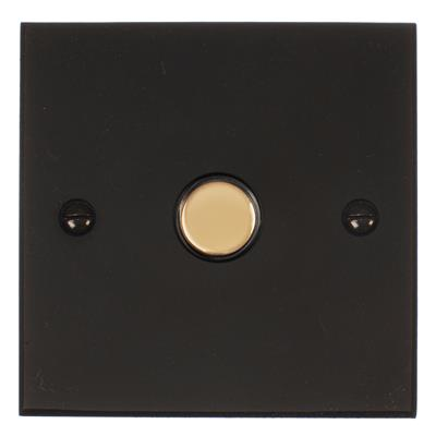 1 Gang Brass Slave Touch Dimmer Bevelled Plate