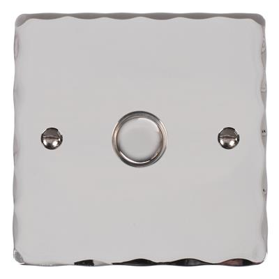 1 Gang Chrome Slave Touch Dimmer with Nickel Hammered Plate
